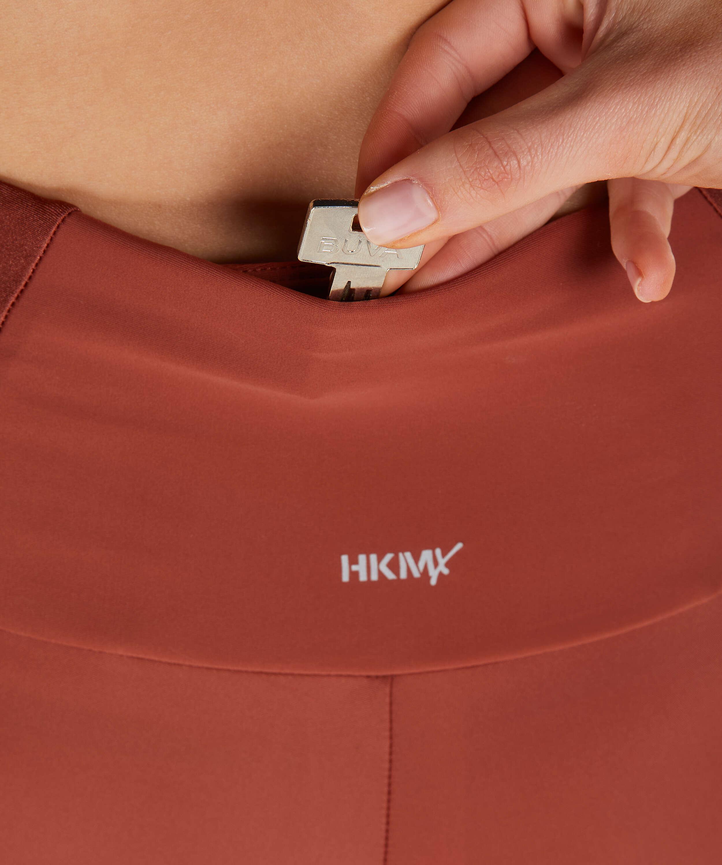 HKMX högt skurna sportleggings Shine On, röd, main