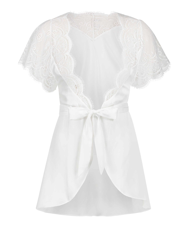 Kimono Cap Sleeve, Vit, main