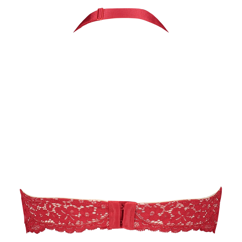 Halter-bralette Rose, röd, main