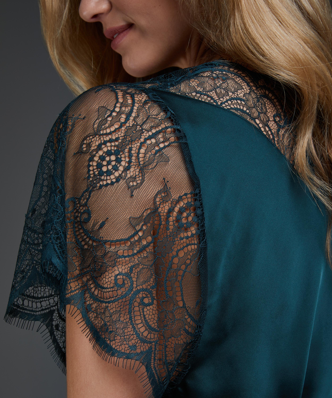 Kimono Cap Sleeve, grön, main