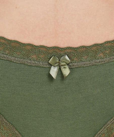 Gratis Spirit-förpackning med tre trosor, grön