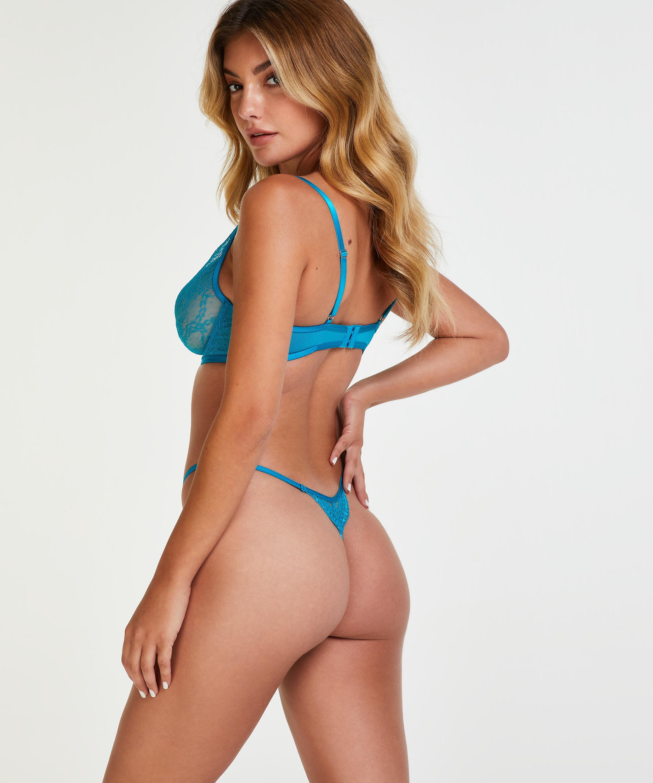 Isabelle icke-formpressad bygel-bh, blå, main