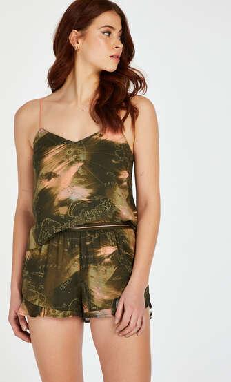 Pyjamasshorts, grön