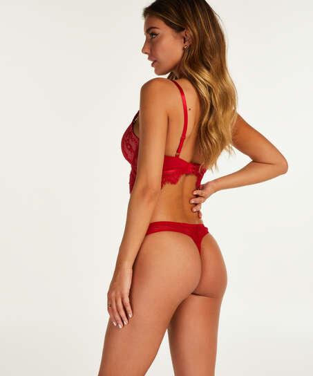Formpressad longline-bh med bygel Marilee, röd
