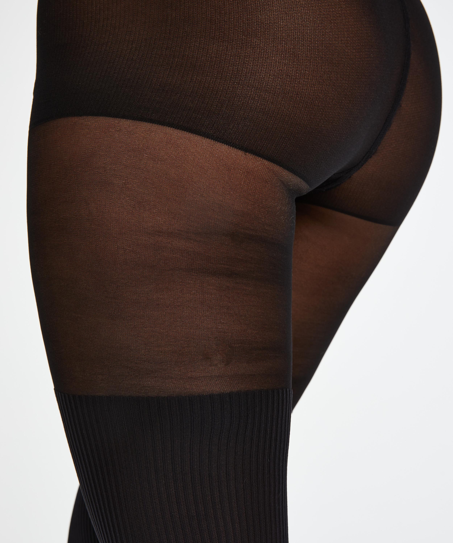 Strumpbyxa 50 Denier Overknee sock, Svart, main