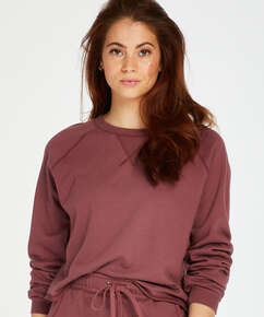 Sweat French Long-Sleeved Top, Rosa
