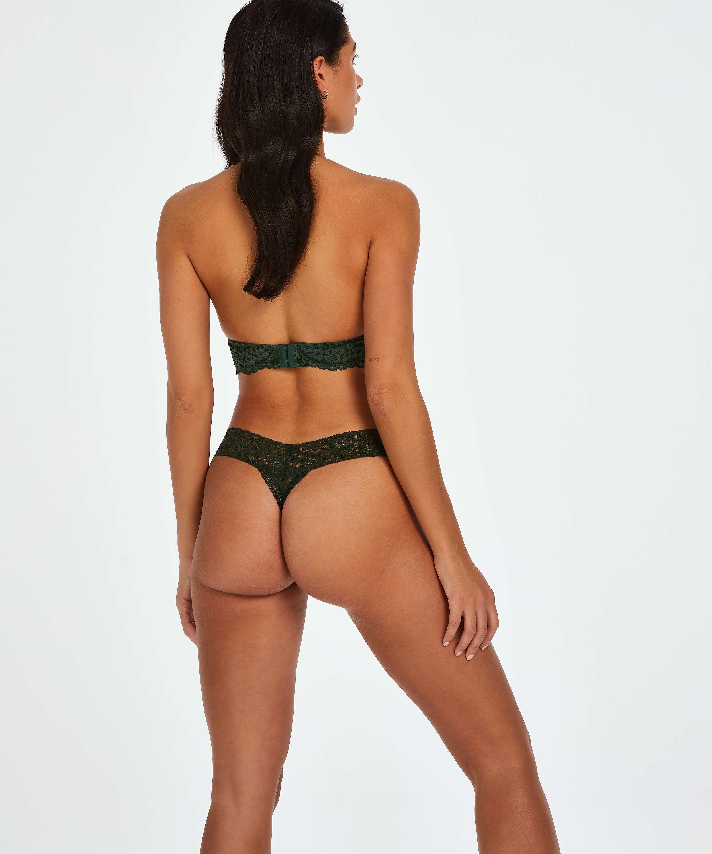 Extra låg stringtrosa V-shape, grön, main