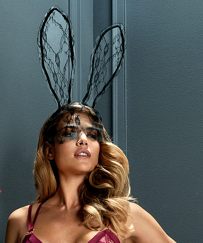 Private Lace Bunny Mask, Svart, main