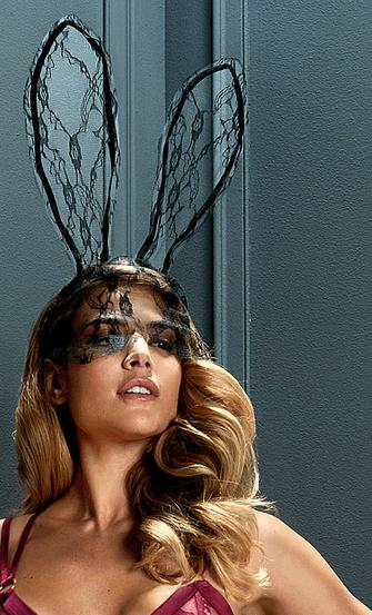 Private Lace Bunny Mask, Svart