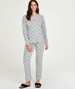Boyfriend Heart pyjamasuppsättning, Grå