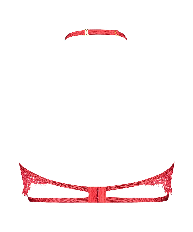 Icke-formpressad bygel-bh med halterneck Eve, röd, main