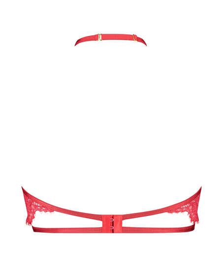 Icke-formpressad bygel-bh med halterneck Eve, röd