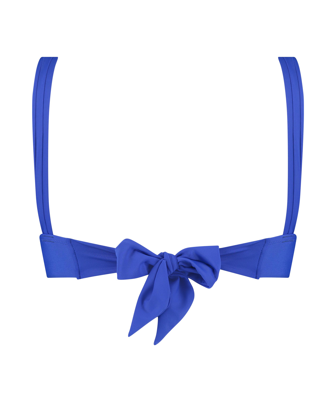 Deluxe triangel-bikiniöverdel, blå, main