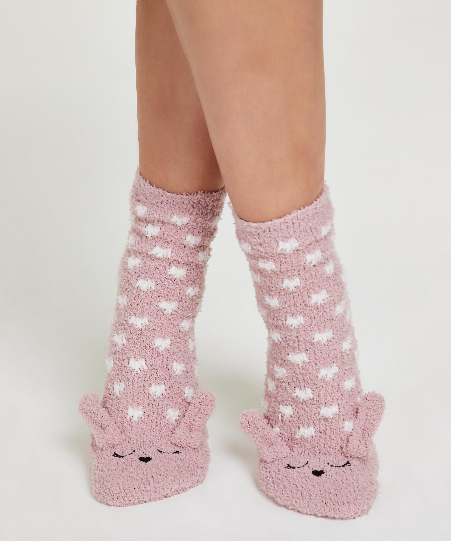 1 par sockar Cosy Bunny (mysig kanin), Rosa, main