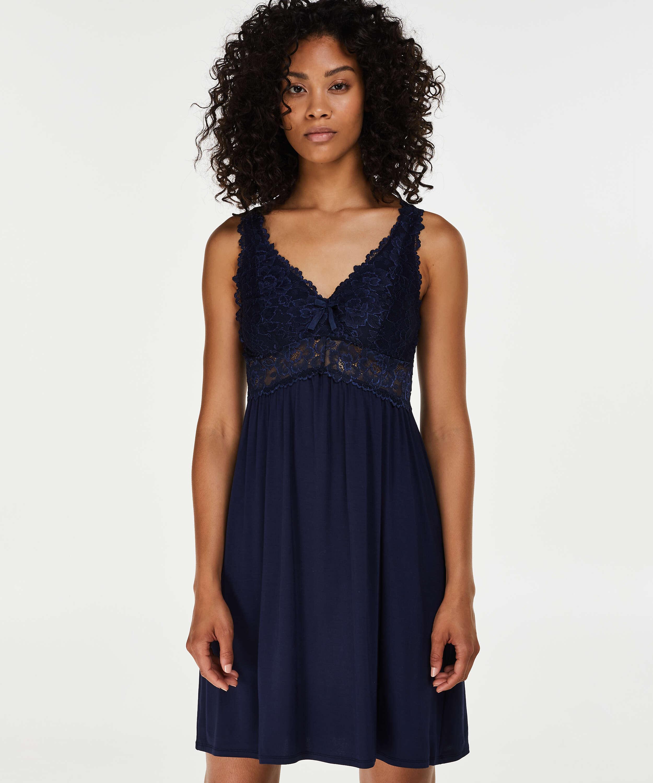 Underklänning Modal Lace, blå, main