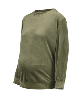 Mammatop i sammets, grön