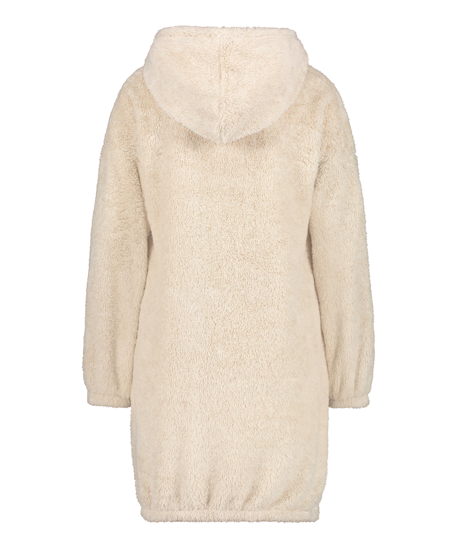 Snuggle fleece klänning, Beige, main