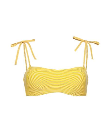 Carmel formpressad bandeau-bikinitopp, Gul