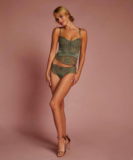 Amelia vadderad underwired bustier, grön
