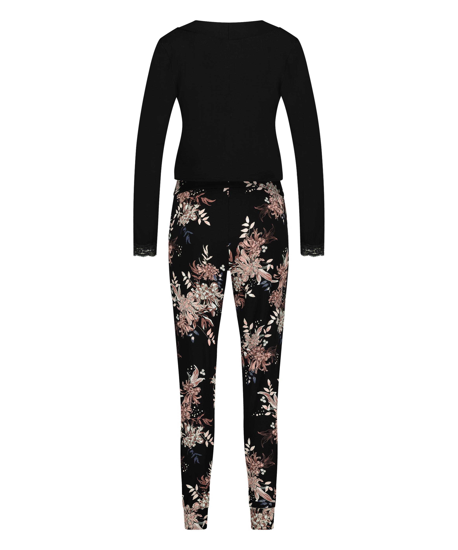 Pyjamasset för amning , Svart, main