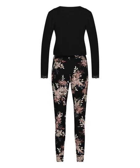 Pyjamasset för amning , Svart