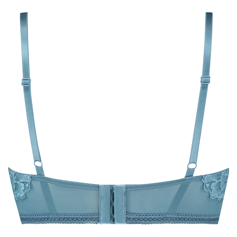 Formpressad longline-bh med bygel Lotte , blå, main