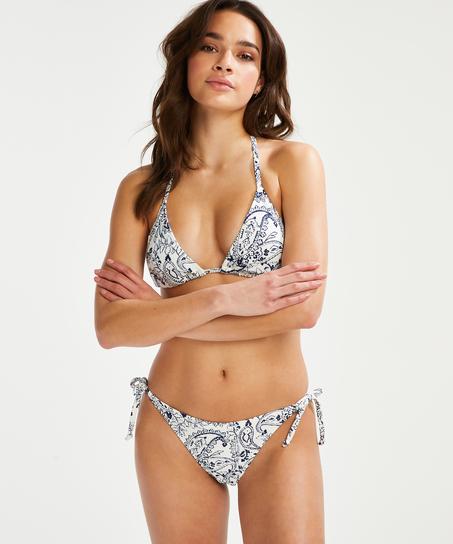 Paisley brazilian-bikiniunderdel, Vit
