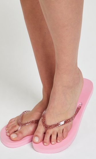 Flip-flops Leopard, Rosa