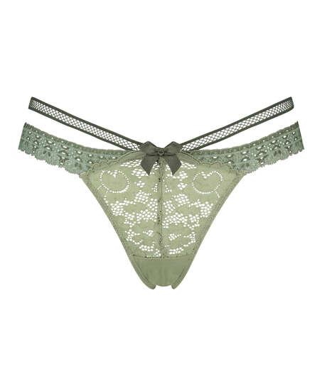 Martha Extra Lågt skuren stringtrosa, grön