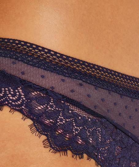 Bessie brazilian-trosa, blå