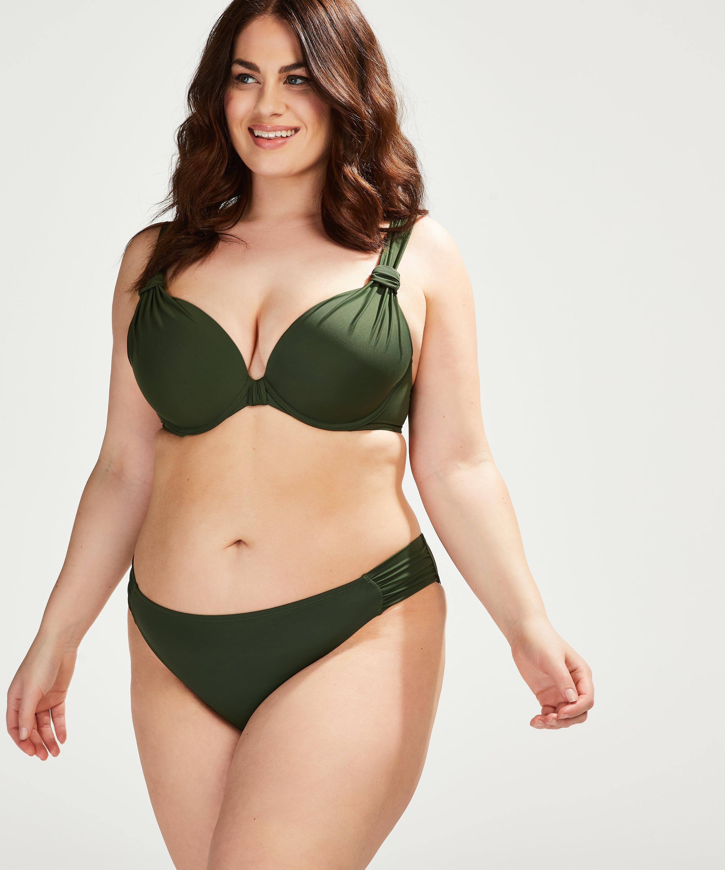 Luxe formpressad bikiniöverdel med bygel Storlek E +, grön, main