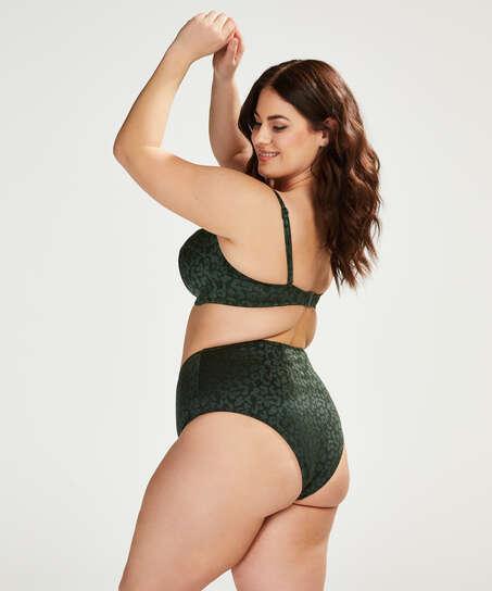 Formpressad bikinitopp med bygel Tonal Leo Storlek E +, grön