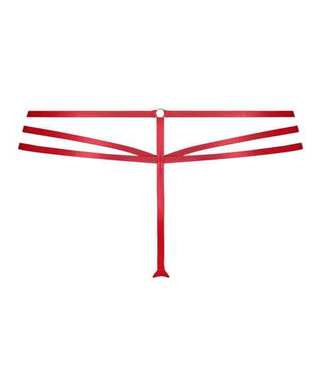 Ziggy hög stringtrosa, röd