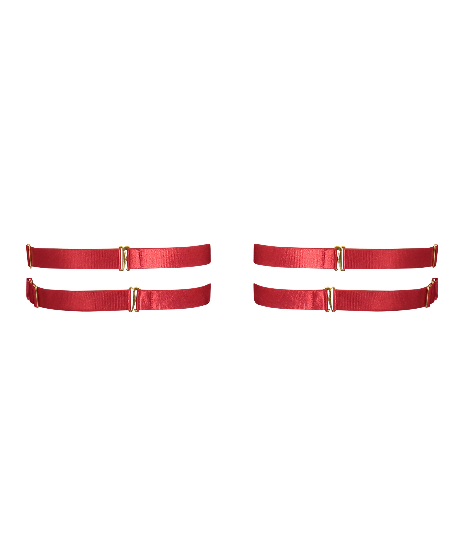 Heart private strumpebandshållare, röd, main