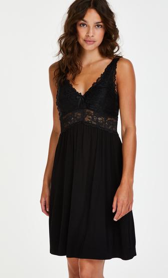 Underklänning Modal Lace, Svart