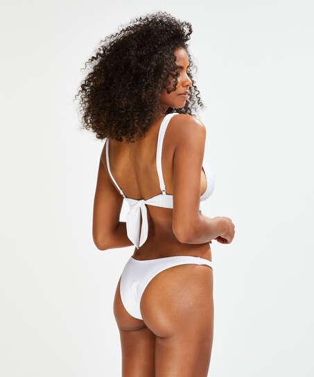 Lola bikini-underdel med höga ben., Vit