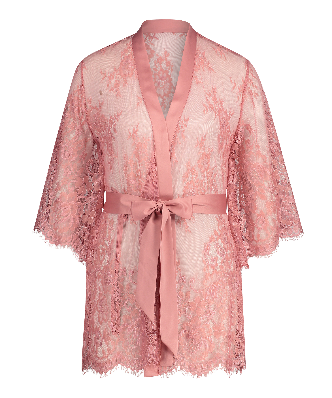 Kimono Lace Isabelle, Rosa, main