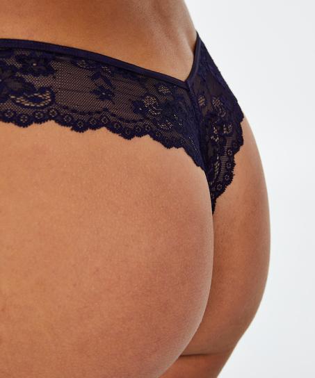 Stringtrosa Invisible Lace Back, blå