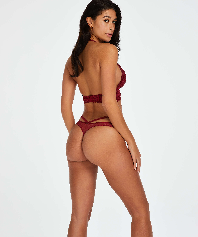 Paige stringtrosa, röd, main