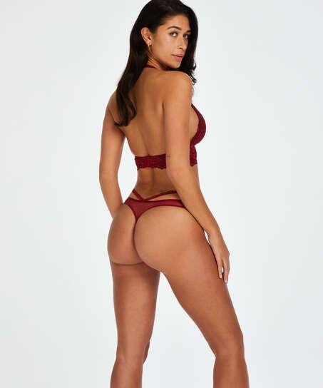 Paige stringtrosa, röd