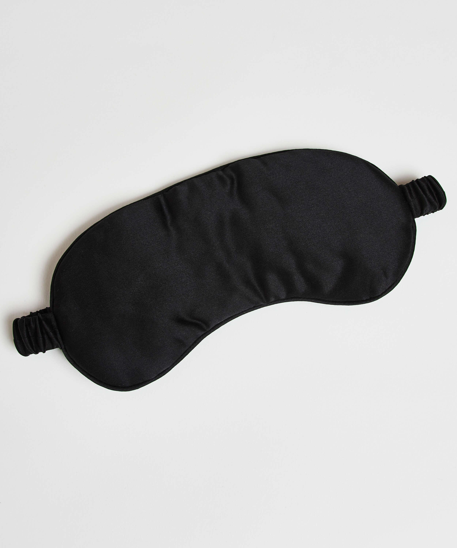Sleep mask silk Noir, Svart, main