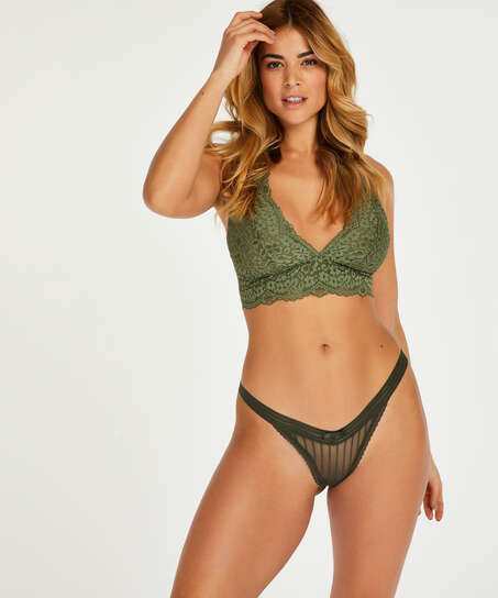 Låg stringtrosa Kira, grön