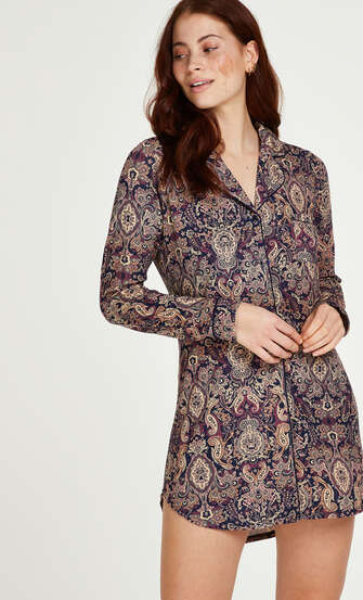 Paisleymönstrad pyjamastopp, blå