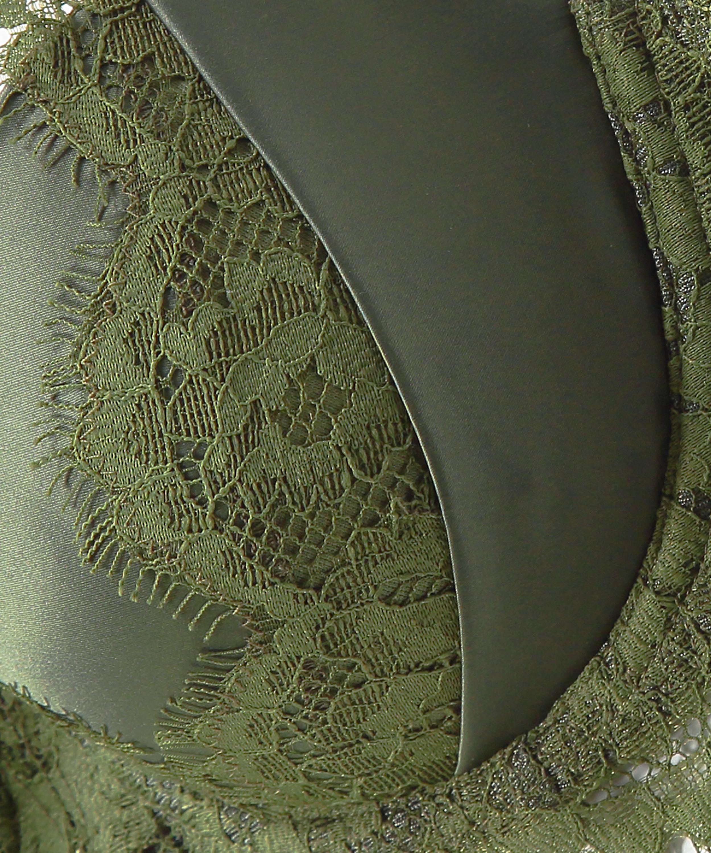 Hannako vadderad bygelbehå, grön, main