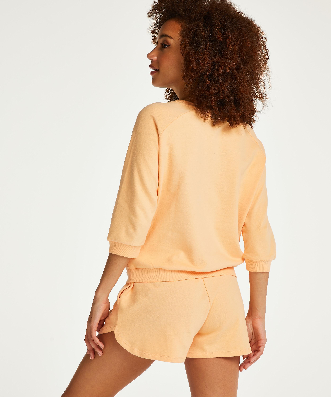 Three-quarter sleeve top Sweat French, Orange, main