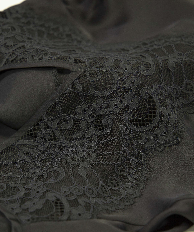 Underklänning i satin Amelia, Svart, main