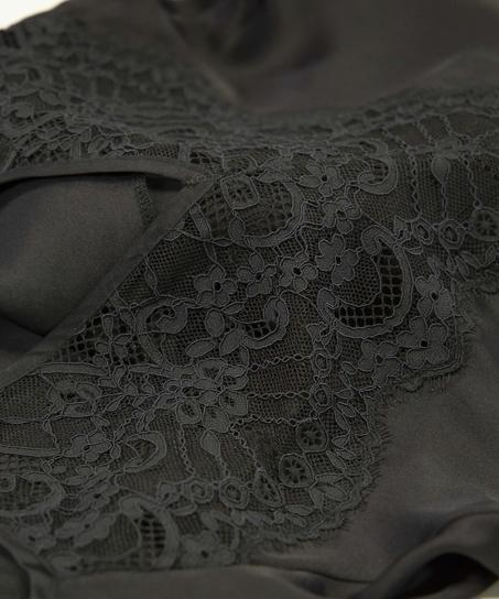Underklänning i satin Amelia, Svart