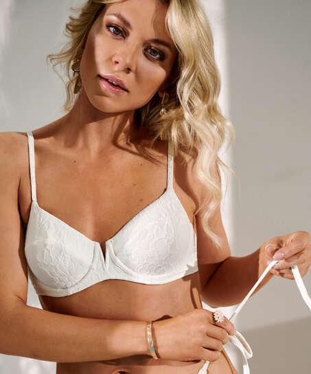 Libby icke-formpressad bikiniöverdel med bygel, Vit