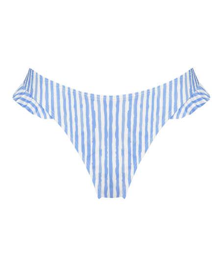 Julia Bikini-underdel med höga ben, blå