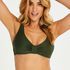 Luxe icke-vadderad bikiniöverdel, grön